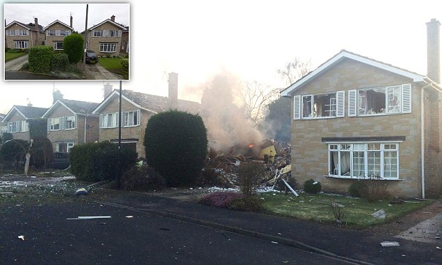 Picture by Rob Varley/Guzelian Picture: House explosion in Haxby on Springwood, in York , North Yorkshire.  Emergency services are now on the scene