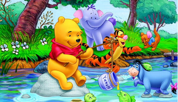 Attracting-children-lovely-cartoon-Water-park-sweet-animals-background-kids-room-decoration-wall-stickers-AY7058