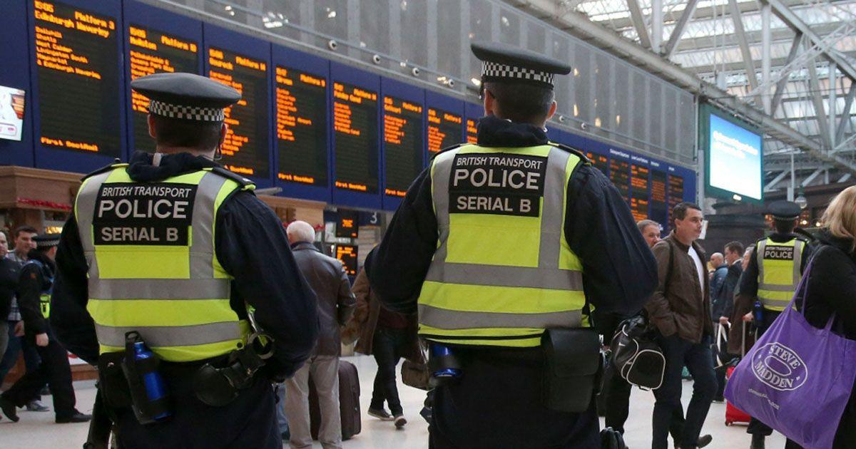 British-Transport-Police-at-Glasgow-Central-station