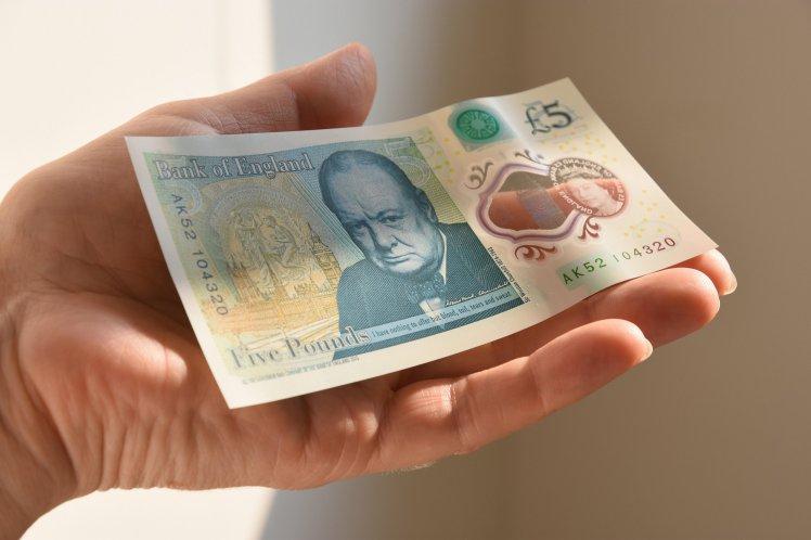 GXKEAR The New Polymer UK Five Pound Note