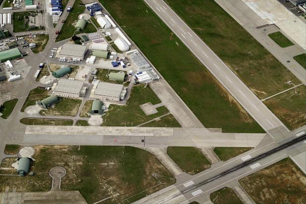 BRINDISI, ITALY - NOVEMBER 2007: An aerial image of Brindisi International Airport, Brindisi (Photo by Blom UK via Getty Images)