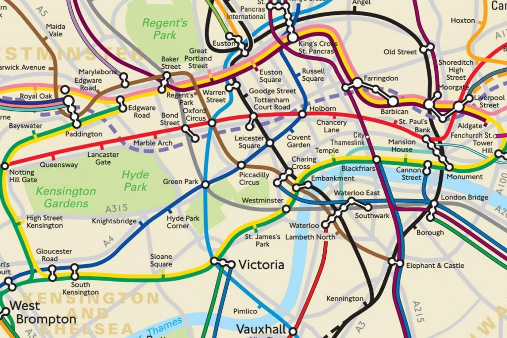 london térkép Elkészült az új londoni metrótérkép, ami végre a valós  london térkép